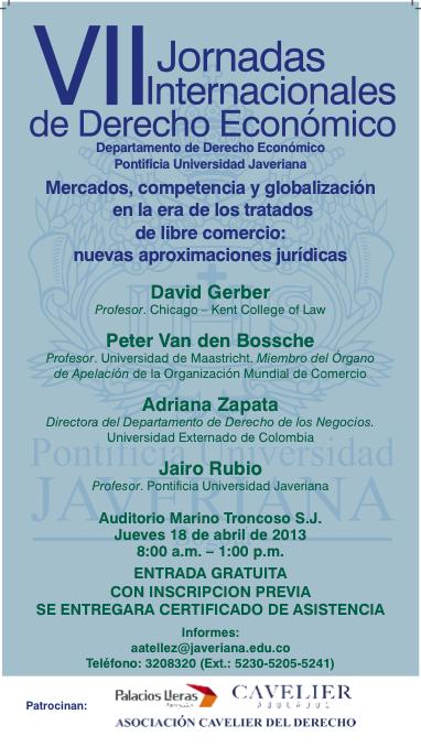 VII Jornadas de Derecho Económico